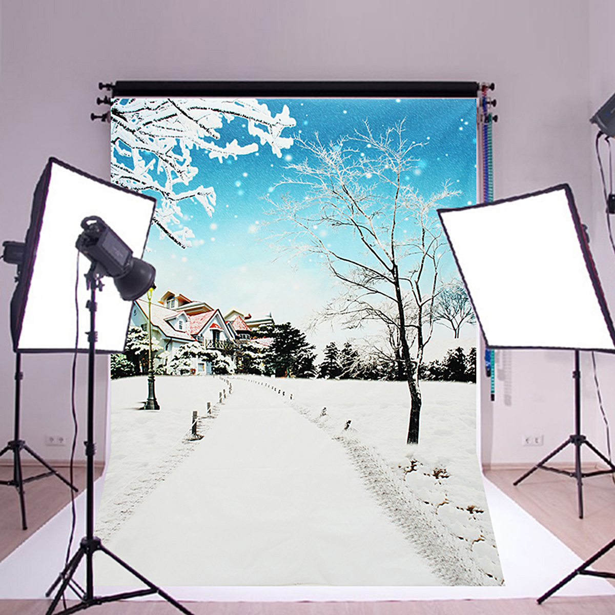 neufu toile de fond tissu neige mariage pour photographie studio photo. Black Bedroom Furniture Sets. Home Design Ideas