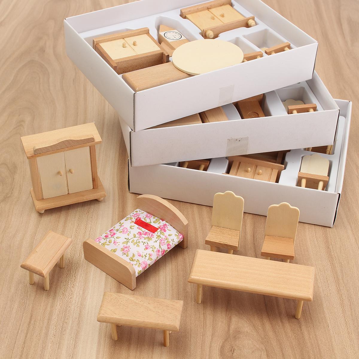 tempsa miniture kit de meuble accessoire maison de poup e achat vente maison poup e cdiscount. Black Bedroom Furniture Sets. Home Design Ideas