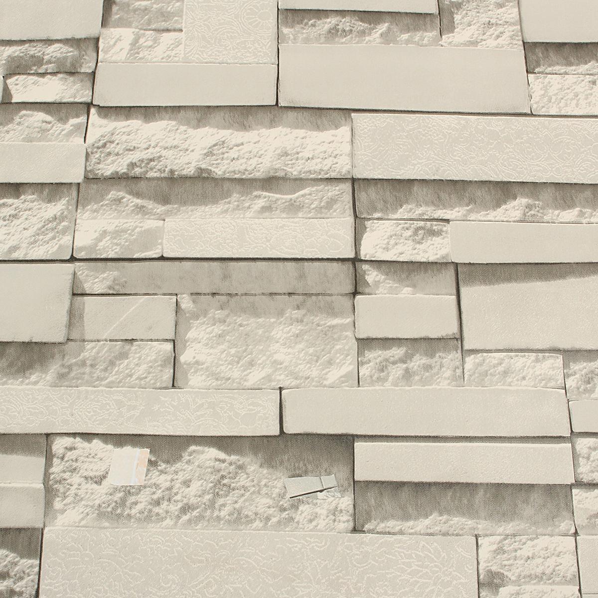 45cm 10m 3d wallpaper brick pattern end 3 16 2018 9 15 am - Papier peint imitation brique relief ...