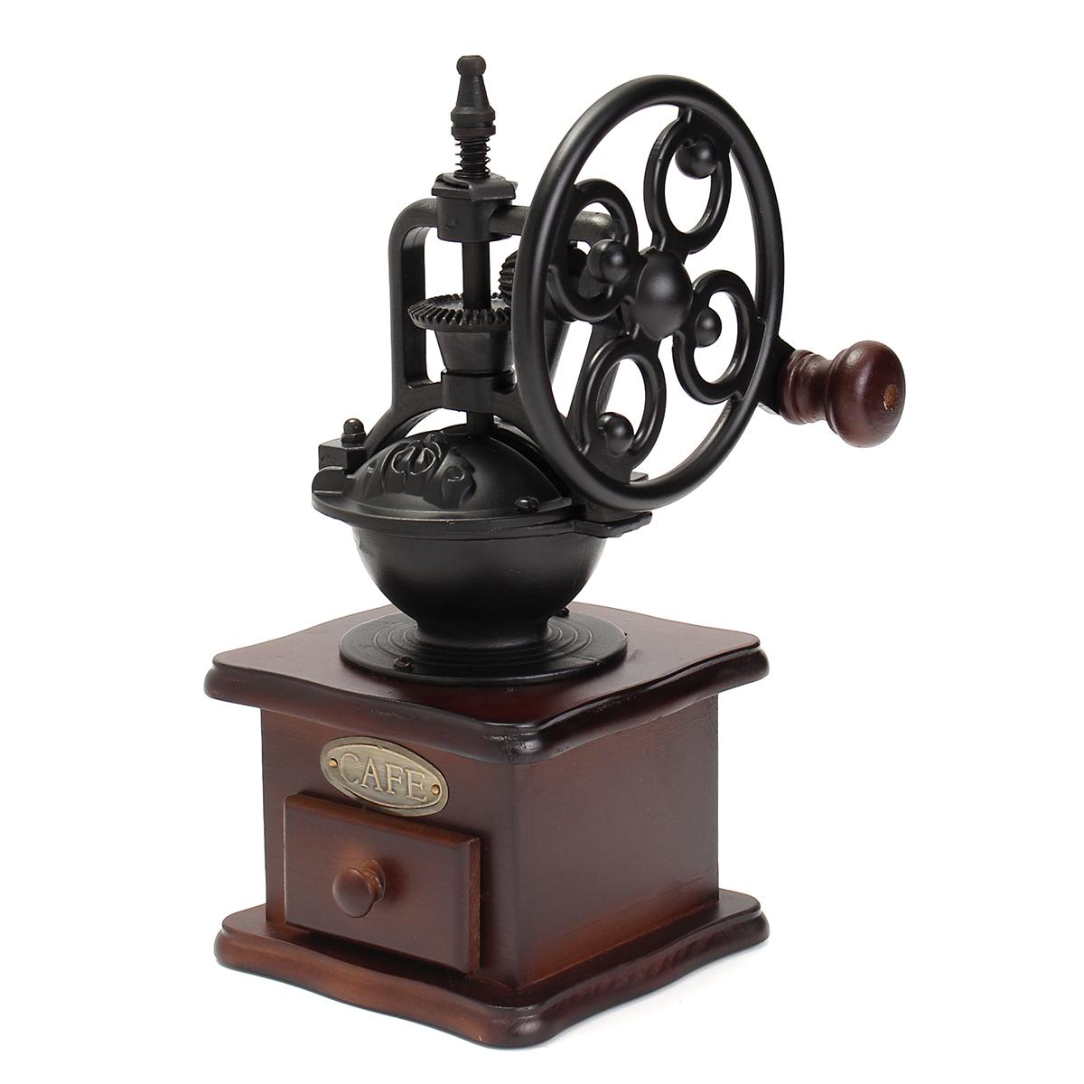vintage moulin broyeur caf expresso cafeti re machine manuel en bois fer achat vente. Black Bedroom Furniture Sets. Home Design Ideas