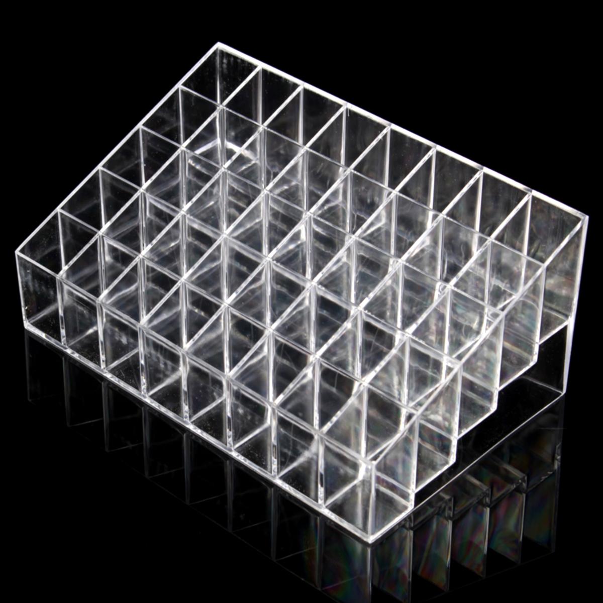 40 grilles cosm tique bo te rangement rouge l vre acrylique transparent achat vente boite. Black Bedroom Furniture Sets. Home Design Ideas