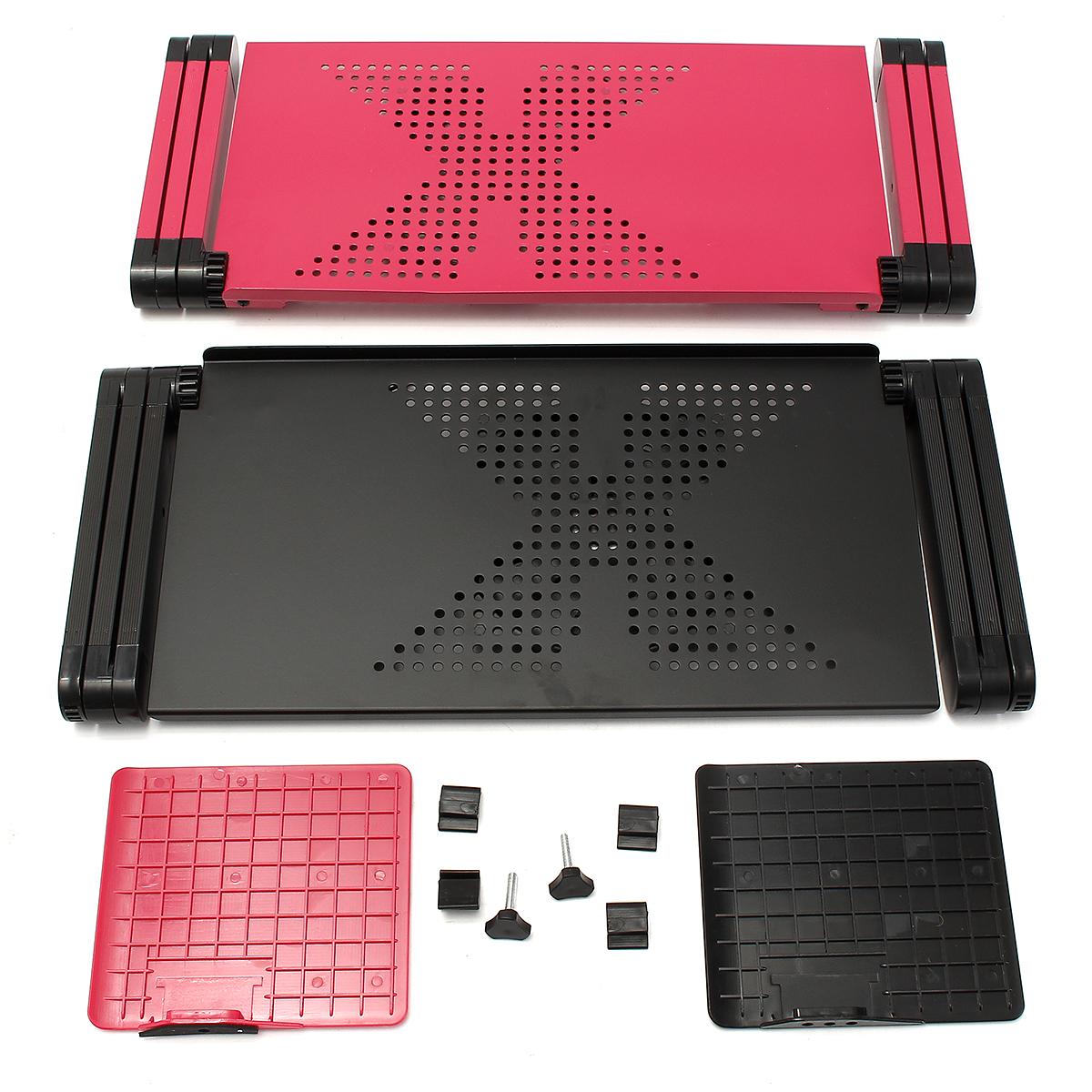 Support d 39 ordinateur portable table tablette lit ventilateur refroidissement rose 480 prix - Tablette pour ordinateur portable lit ...