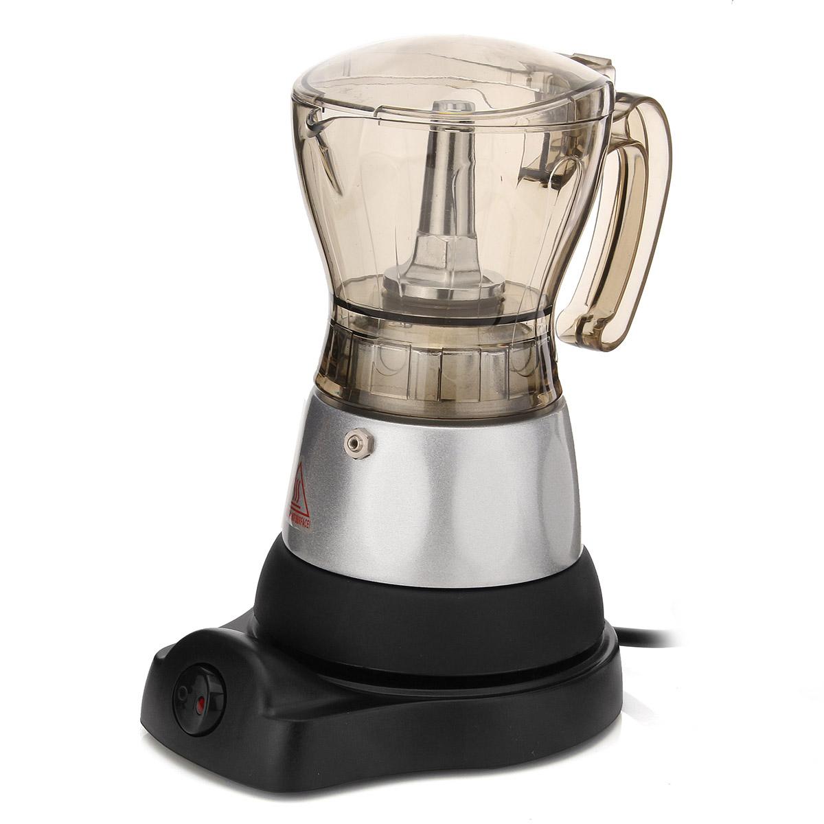 4 Cup Electric Espresso Coffee Maker Machine Percolator Moka Pot Stovetop Brewer 11street ...