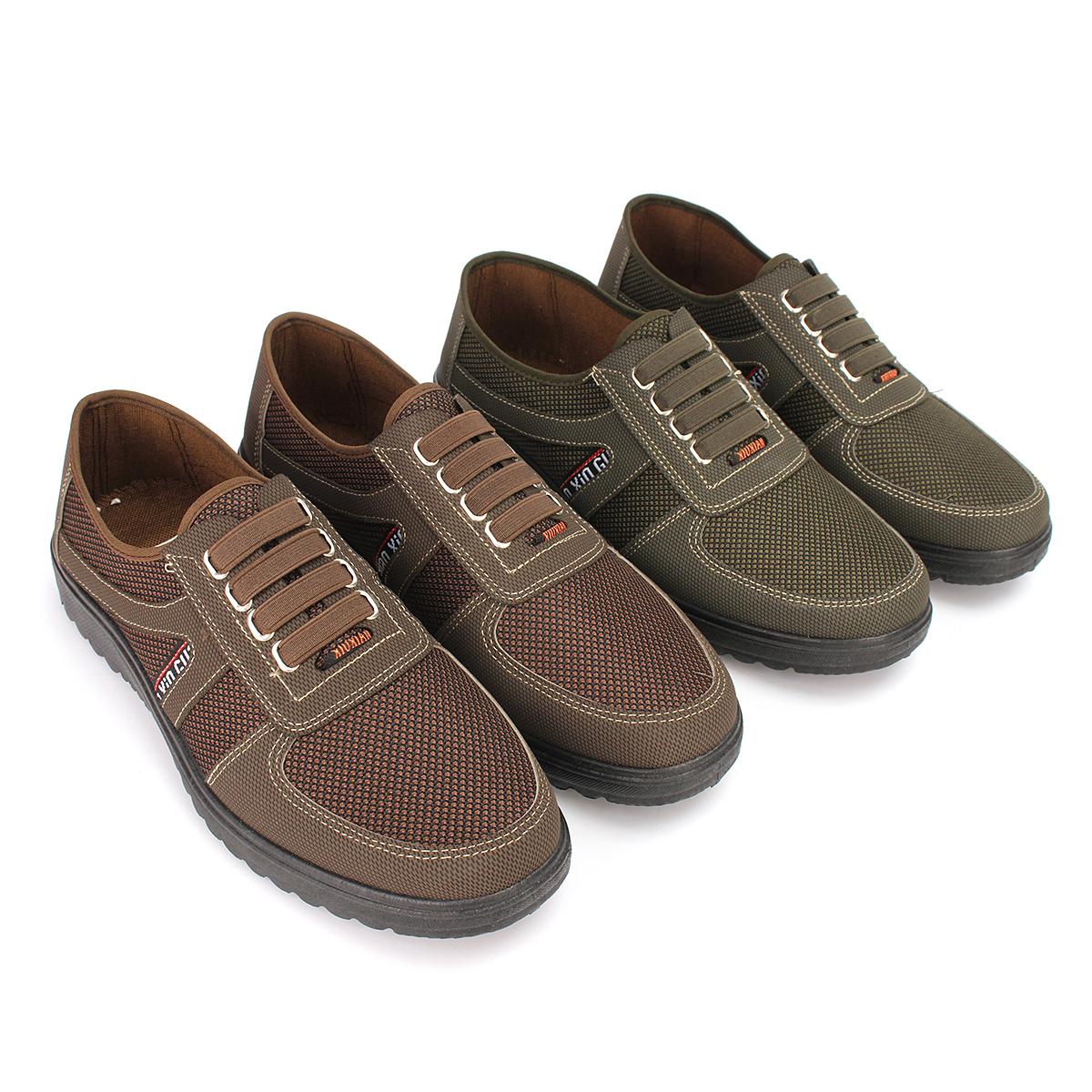 AEQUEEN Mocassins Hommes en Coton Chaussure Décontractées YqU793
